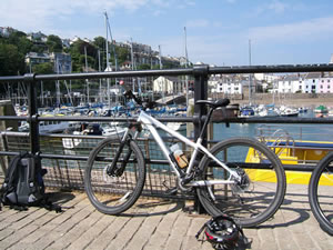 Specialized Rockhopper on the quayside in Ilfracombe