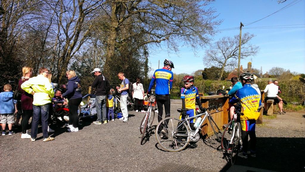 Cyclists outside Stan's Bike Shack