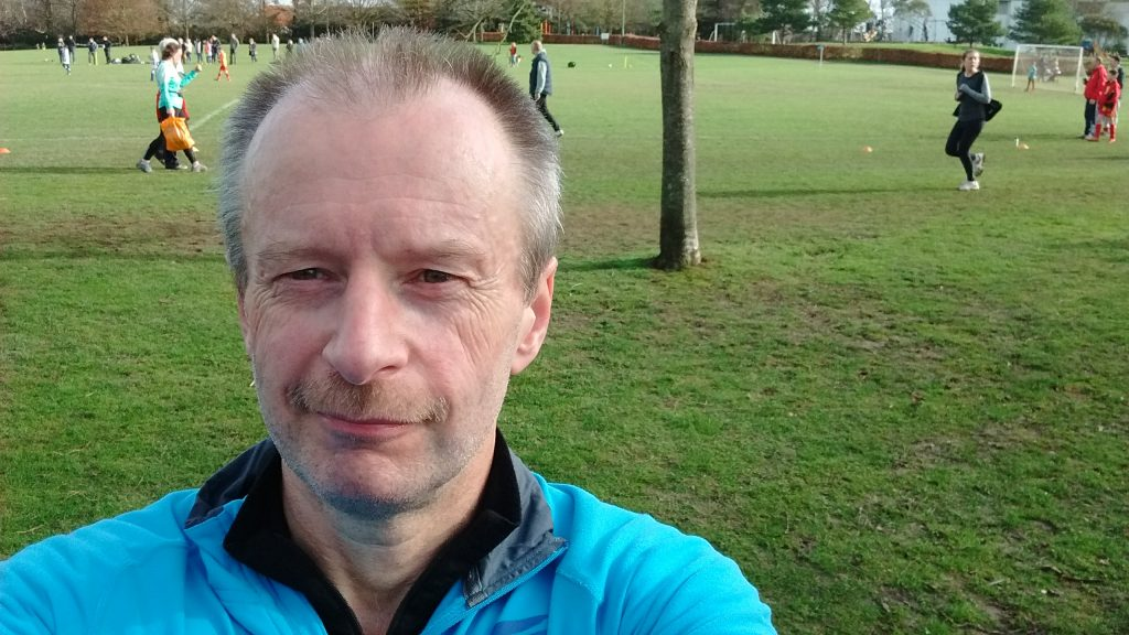 Selfie after running my 100th parkrun